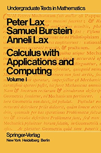 9781468470581: Calculus with Applications and Computing