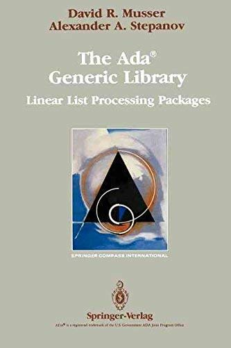 9781468470901: The Ada® Generic Library: Linear List Processing Packages