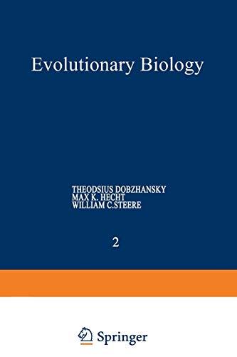Evolutionary Biology: Volume 2 (1468480960) by Dobzhansky, Theodosius; Hecht, Max K.; Steere, William C.