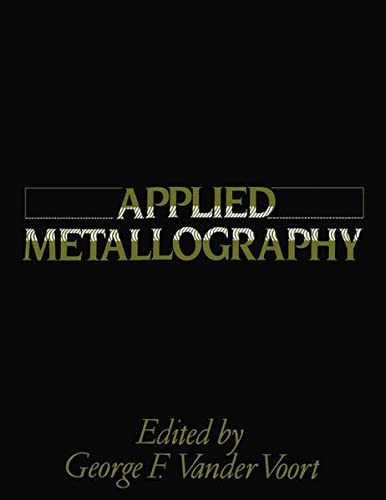 9781468490862: Applied Metallography