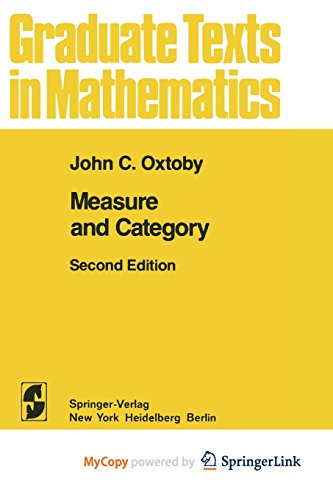 9781468493405: Measure and Category: A Survey of the Analogies between Topological and Measure Spaces