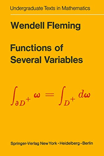 9781468494631: Functions of Several Variables (Undergraduate Texts in Mathematics)