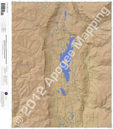 9781468800319: Electra Lake, Colorado 7.5 Minute Topographic Map - Waterproof Paper (amTopo)