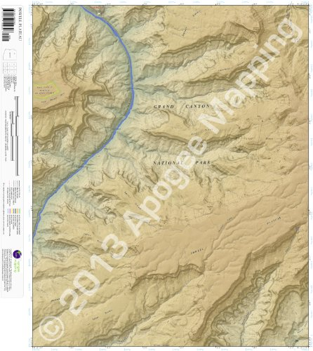 9781468802696: Powell Plateau, Arizona 7.5 Minute Topographic Map - Waterproof Paper (amTopo)