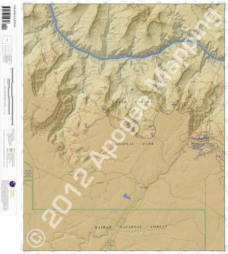 9781468802757: Grand Canyon, Arizona 7.5 Minute Topographic Map - Waterproof Paper (amTopo)