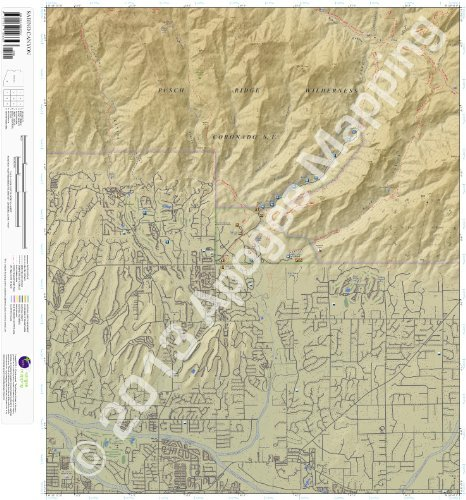 9781468803327: Sabino Canyon, Arizona 7.5 Minute Topographic Map - Waterproof Paper