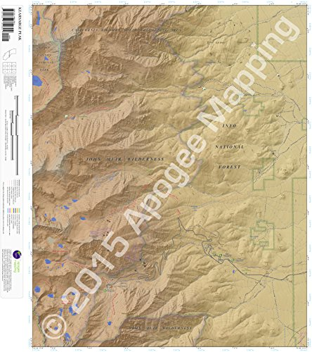 9781468812602: Kearsarge Peak, California 7.5 Minute Topographic Map - Waterproof Paper