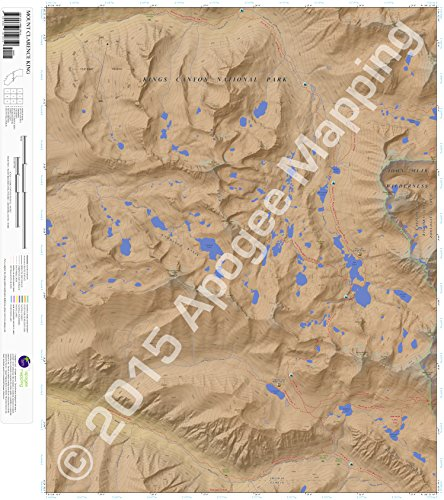 9781468812619: Mount Clarence King, California 7.5 Minute Topographic Map - Waterproof Paper
