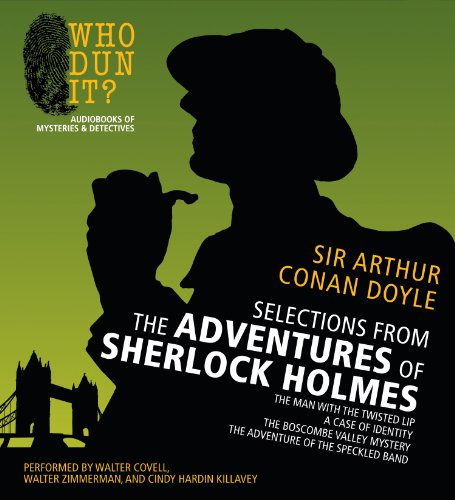 9781469260822: Selections from The Adventures of Sherlock Holmes: The Man with the Twisted Lip, A Case of Identity, The Boscombe Valley Mystery, The Adventure of the Speckled Band (Who Dun It?)