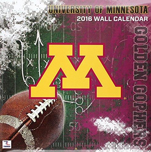 9781469326429: University of Minnesota Golden Gophers 2016 Calendar