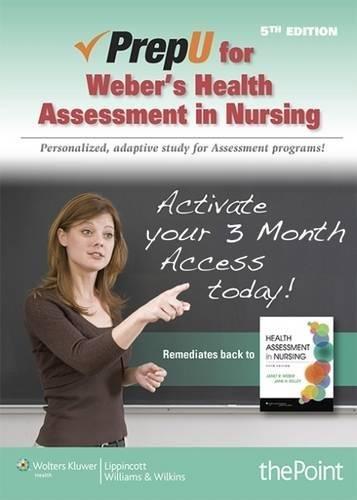 9781469845982: PrepU for Weber's Health Assessment in Nursing