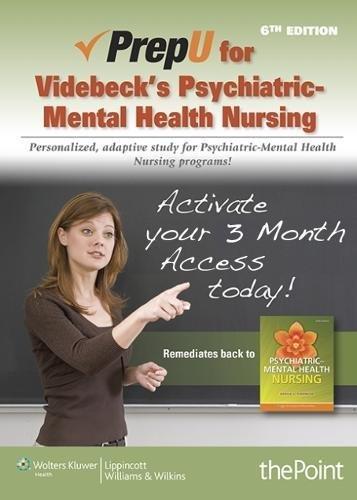 9781469846187: PrepU Access Code for Videbeck's Psychiatric-Mental Health Nursing 6th Edition
