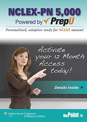LWW NCLEX-PN 5,000 PrepU; LWW Fast Facts for NCLEX-PN Text; Timby 10e Text; plus Rupert 3e Text ...