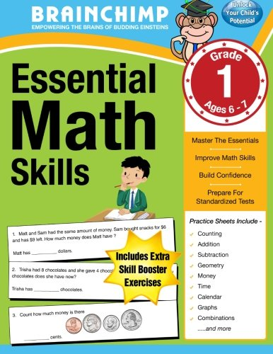 9781469946269: Essential Math Skills : 1st Grade Workbook For Ages 6-7
