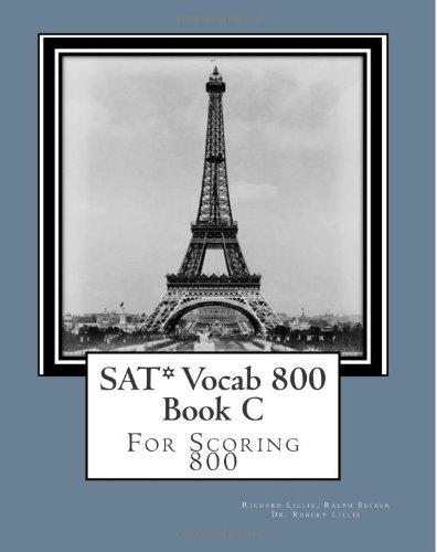 9781469963105: SAT* Vocab 800 Book C: For Scoring 800