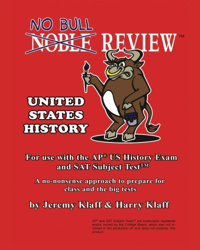9781469983073: No Bull Review - For Use with the AP US History Exam and SAT Subject Test