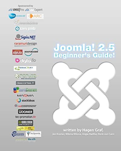 9781470011734: Joomla! 2.5 - Beginner's Guide