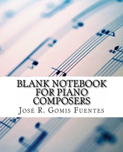 9781470019068: Blank notebook for piano composers
