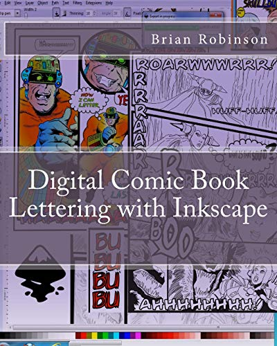 9781470030247: Digital Comic Book Lettering with Inkscape