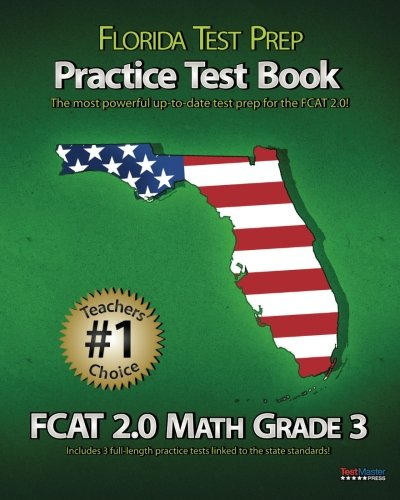 9781470083335: FLORIDA TEST PREP Practice Test Book FCAT 2.0 Math Grade 3