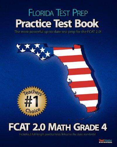 9781470099923: FLORIDA TEST PREP Practice Test Book FCAT 2.0 Math Grade 4
