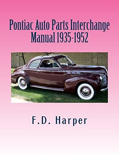 9781470112356: Pontiac Auto Parts Interchange Manual 1935-1952