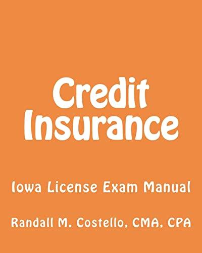 9781470136697: Credit Insurance: Iowa License Exam Manual
