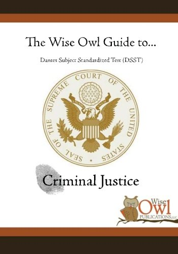 9781470148256: The Wise Owl Guide To... Dantes Subject Standardized Test (DSST) Criminal Justice