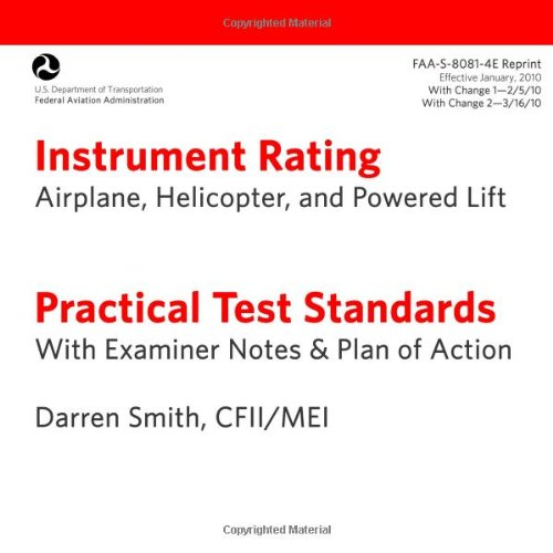 9781470165406: Instrument Rating Practical Test Standards with Examiner's Notes FAA-S-8081-4