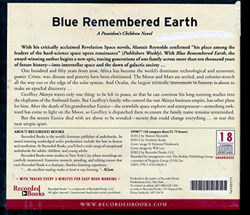 9781470300203: Blue Remembered Earth [Unabridged CDs]