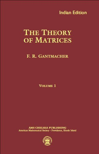 The Theory of Matrices, Volume 1: F.R. Gantmacher