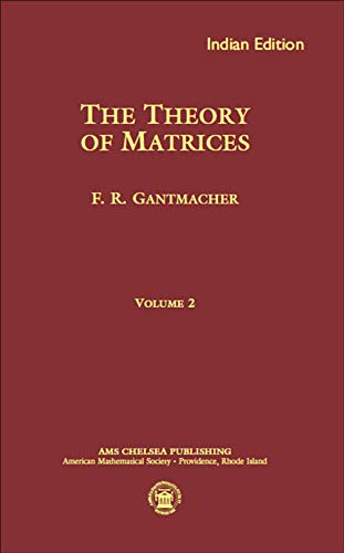 9781470409173: Theory Of Matrices Vol Ii