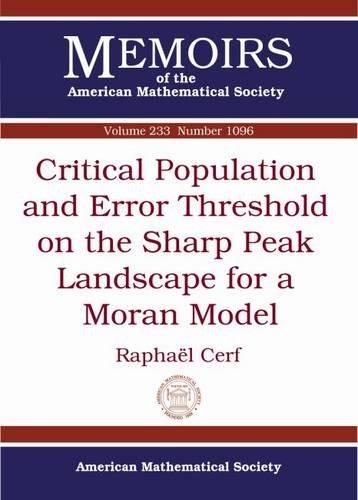 Critical Population and Error Threshold on the Sharp Peak Landscape for a Moran Model: Raphael Cerf