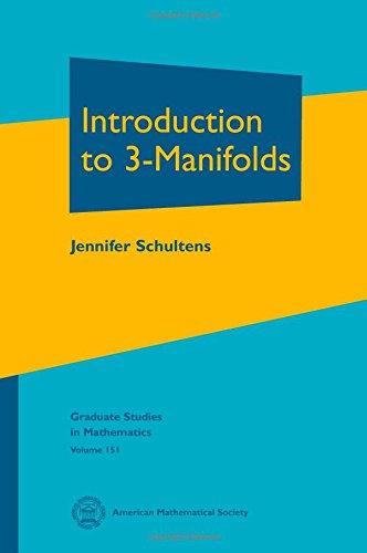 9781470410209: Introduction to 3-Manifolds (Graduate Studies in Mathematics)