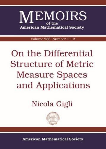 9781470414207: On the Differential Structure of Metric Measure Spaces and Applications (Memoirs of the American Mathematical Society)