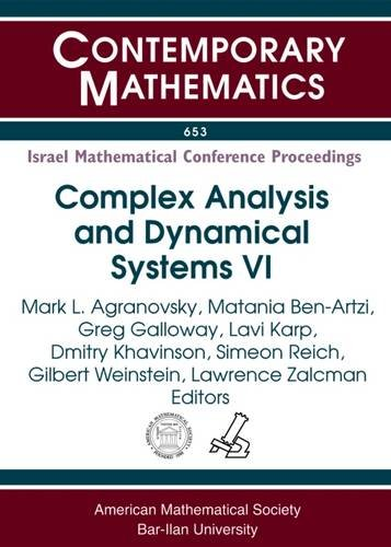 Complex Analysis and Dynamical Systems: Pde, Differential: Amer Mathematical Society
