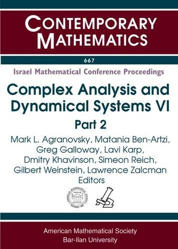 Israel Mathematical Conference Proceedings: Complex Analysis And