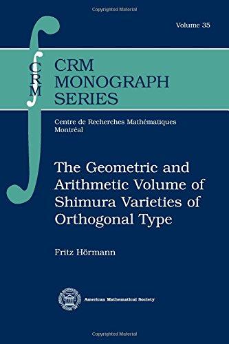Geometric & Arithmetic Volume of Shimura Varieties of Orthogonal Type: Fritz Hormann