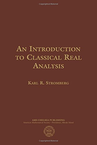 9781470425449: An Introduction to Classical Real Analysis (AMS Chelsea Publishing)
