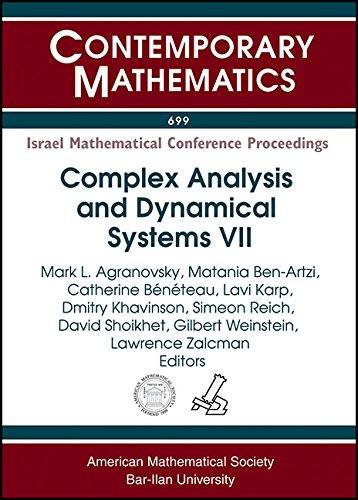 Complex Analysis and Dynamical Systems VII: Israel: Edited by Mark