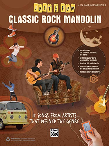 9781470614966: Just for Fun -- Classic Rock Mandolin: 12 Songs from Artists That Defined the Genre