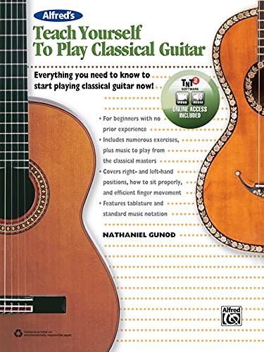9781470615062: Alfred's Teach Yourself to Play Classical Guitar: Everything You Need to Know to Start Playing Classical Guitar Now!, Book, CD & DVD (Teach Yourself Series)