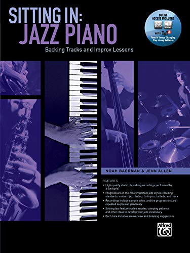 9781470615567: Sitting In: Jazz Piano: Backing Tracks and Improv Lessons