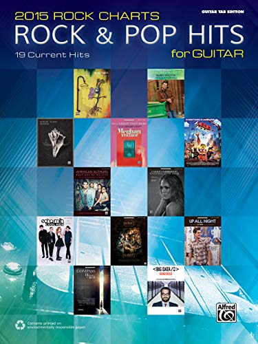 9781470620066: 2015 Rock & Pop Chart Hits for Guitar: 19 Current Hits