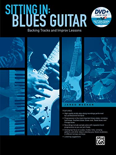 9781470623654: Sitting In -- Blues Guitar: Backing Tracks and Improv Lessons, Book & DVD-ROM (Sitting In Series)