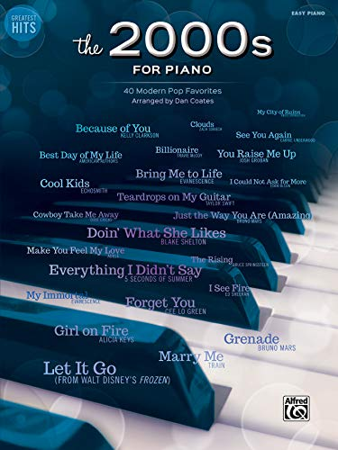 Greatest Hits -- The 2000s for Piano: 40 Modern Pop Favorites: Dan Coates