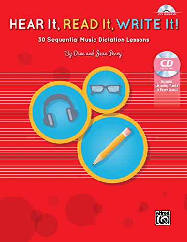 9781470626365: Hear It, Read It, Write It!: 30 Sequential Music Dictation Lessons, Book & CD