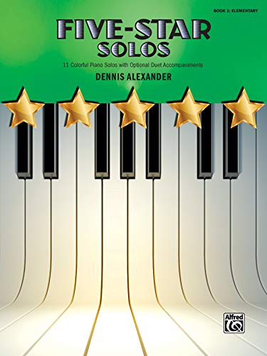 9781470626389: Five-Star Solos, Bk 2: 11 Colorful Songs for Elementary Pianists (Five-Star Series)