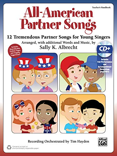 9781470626617: All-American Partner Songs: 12 Tremendous Partner Songs for Young Singers (Kit), Book & Enhanced CD (Partner Songbooks)