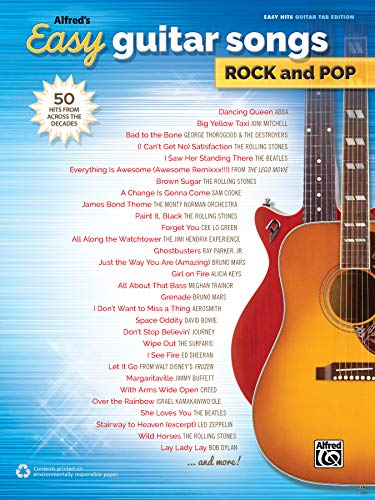 Alfred's Easy Guitar Songs Rock and Pop: Alfred Music